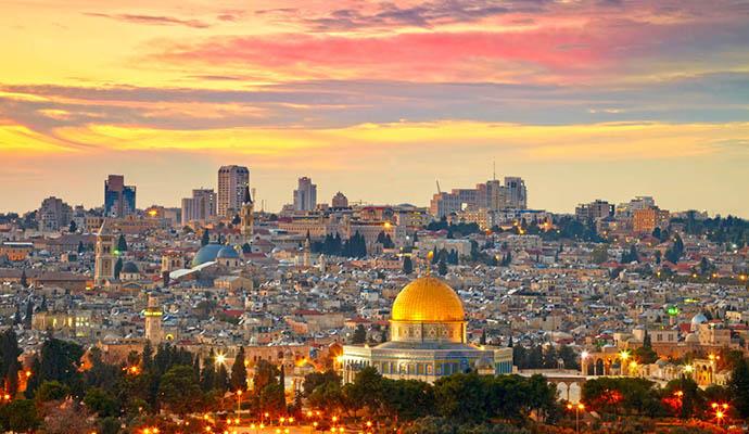 Вид на Храмовую Гору в Иерусалиме