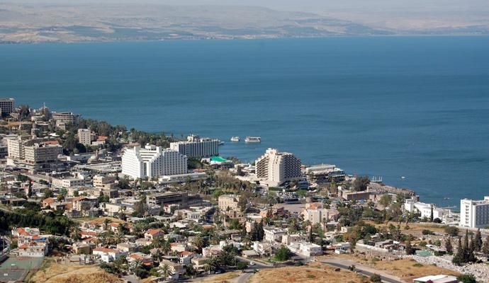 Вид на город Тверия
